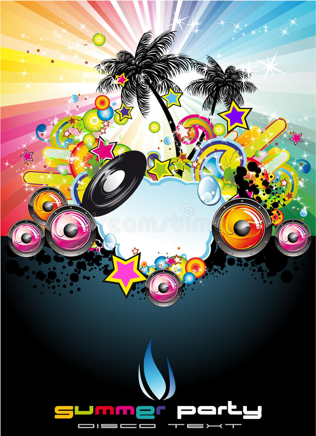 Download Tropical Music Event Flyer Royalty Free Stock Image - Image: 10461156