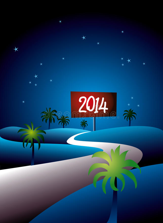 Tropical 2014 At Night Stock Images