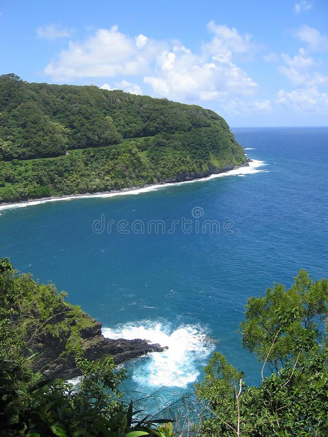 The Tropical North Coast of Maui royalty free stock photography
