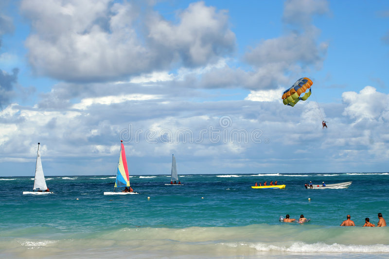 Tropical ocean activities royalty free stock images
