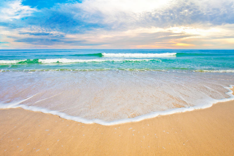 Download Tropical Ocean Beach Sunrise Or Sunset Stock Image - Image of tropical, wave: 25990589