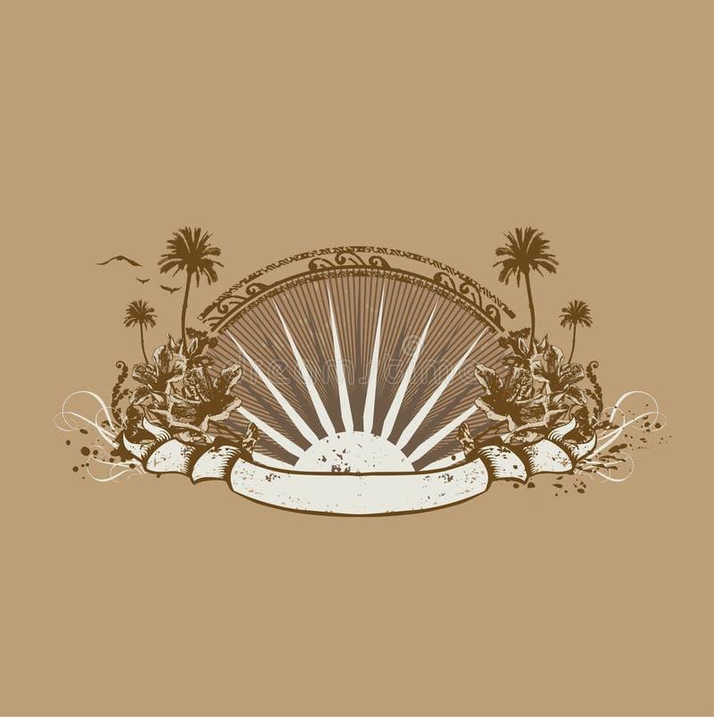 Tropical ocean coast vector illustration