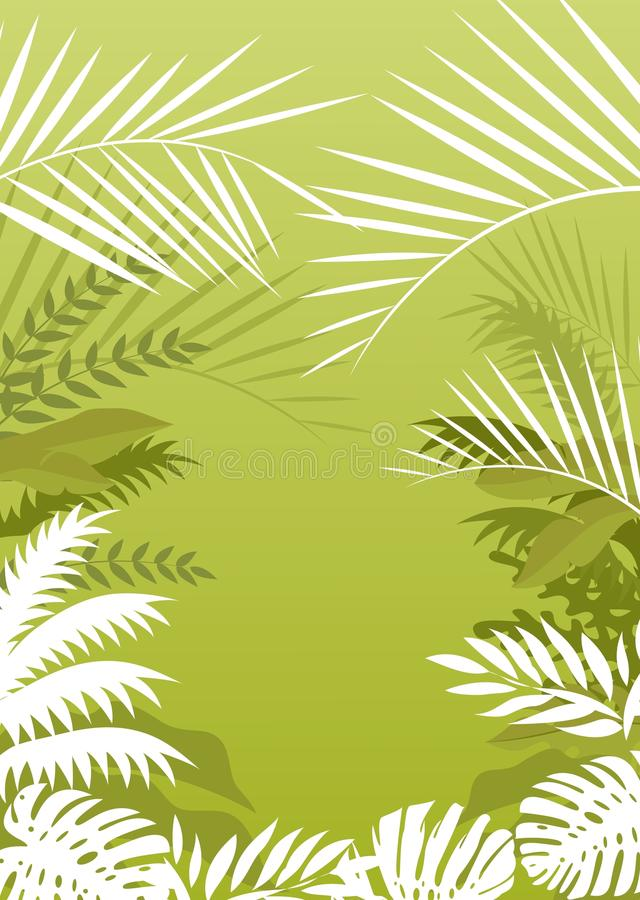 Tropical palm background vector illustration