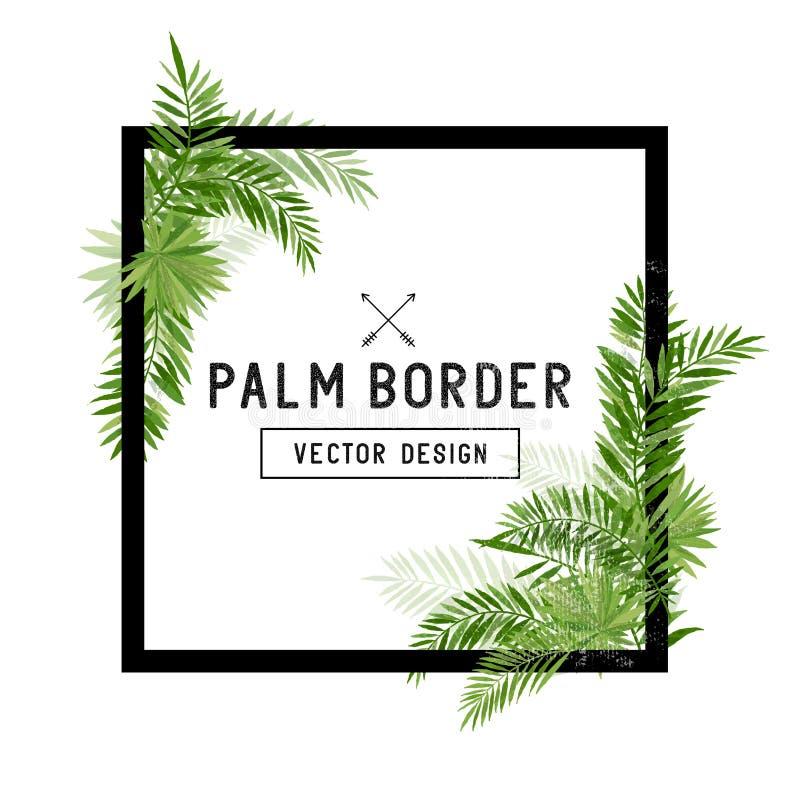 Tropical palm leaf border vector stock vector illustration of palm download tropical palm leaf border vector stock vector illustration of palm invitation 68661178 stopboris Gallery