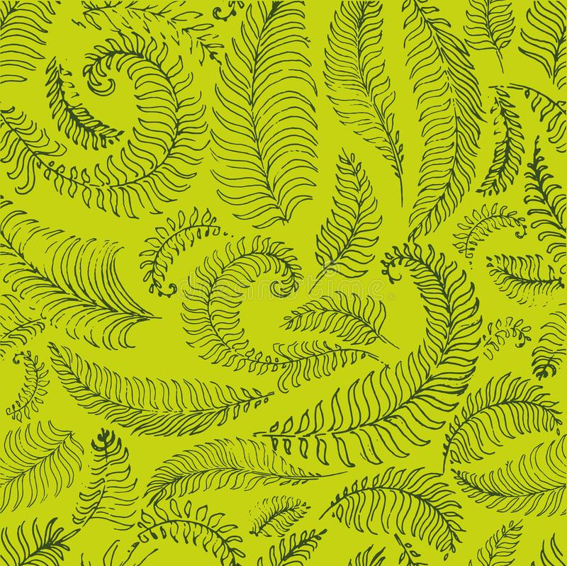 Tropical palm leaves, jungle leaves seamless vector floral pattern background vector illustration