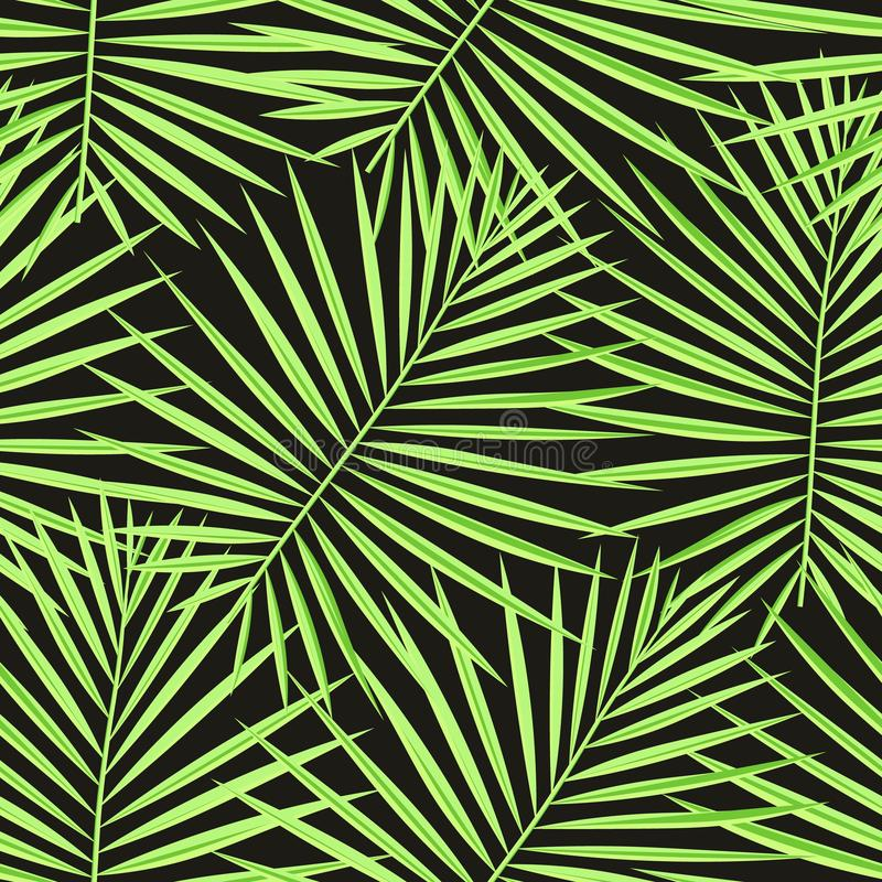 Tropical palm leaves pattern seamless background. Exotic fashion trendy floral foliage pattern. Seamless beautiful botany palm royalty free stock photos
