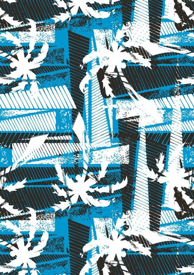 Tropical palm stencil pattern. stock illustration