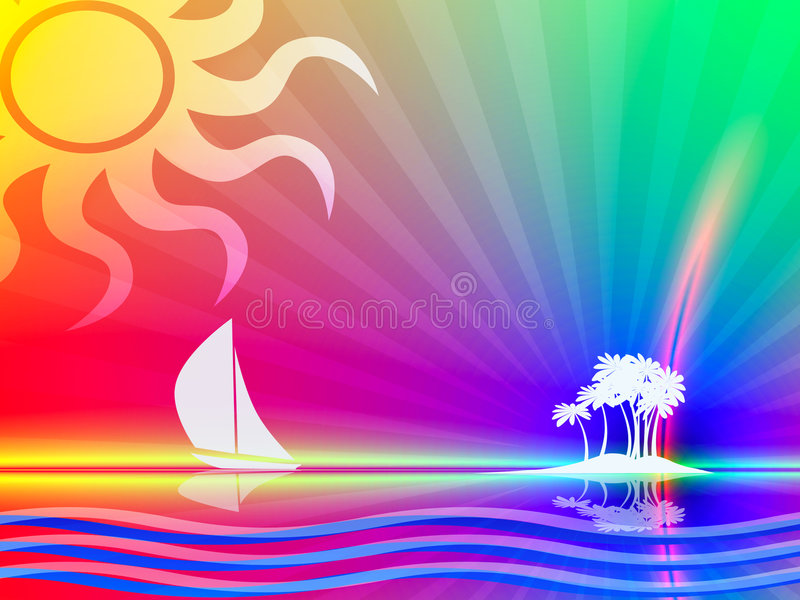 Tropical paradise stock illustration