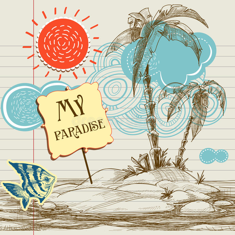 Download Tropical Paradise Background Stock Vector - Image: 22876448