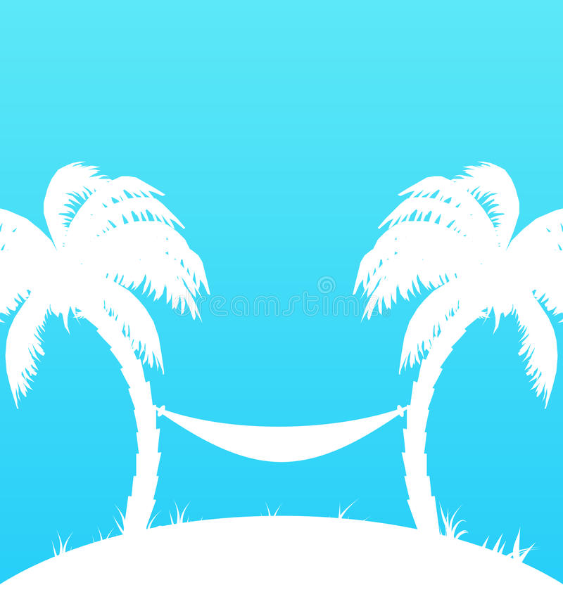 Download Tropical Paradise Background With Palm Trees And H Stock Vector - Image: 39409645