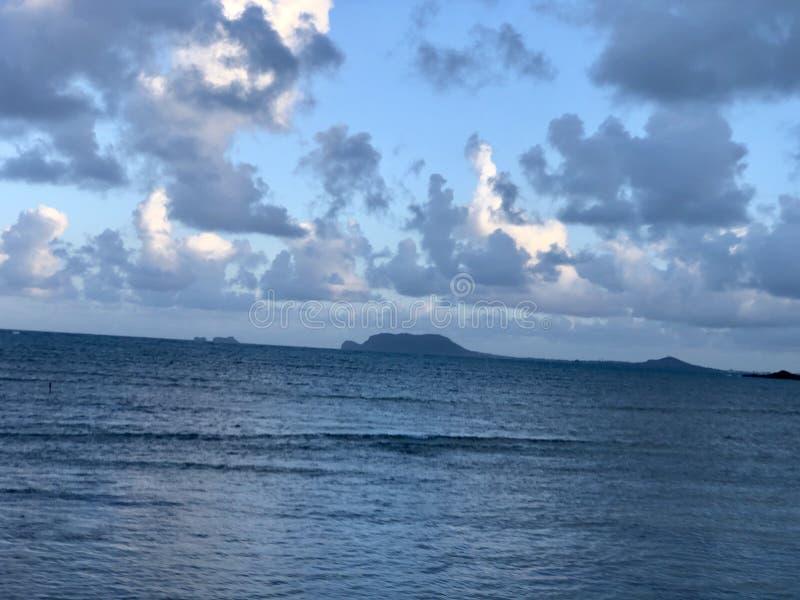 Tropical paradise Honolulu Hawaii ocean scenery stock photography