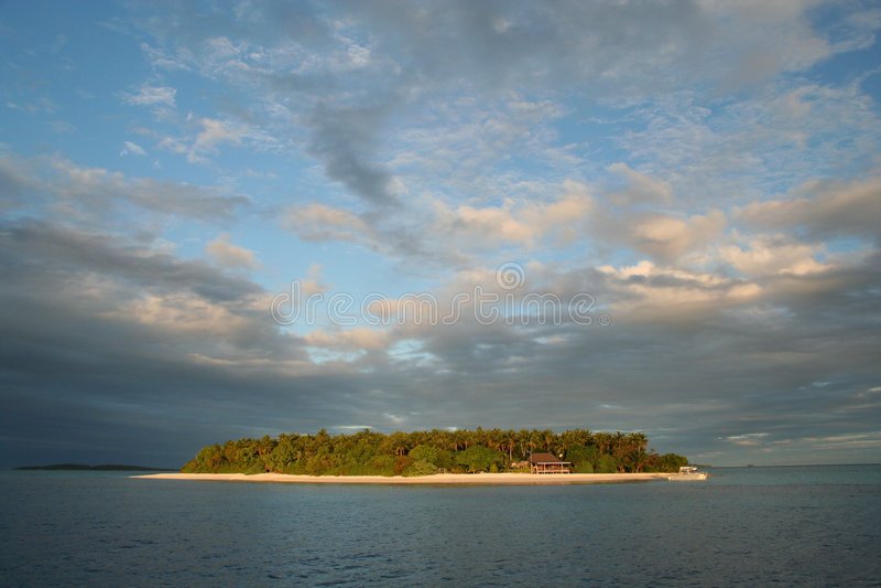 Tropical paradise - Mounu island, Tonga, South Pacific stock image