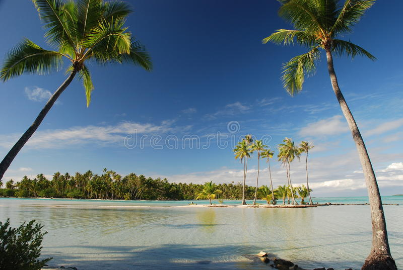 Tropical paradise. Tahaa, French Polynesia. Tahaa is an island located among the Society Islands, in French Polynesia, an overseas territory of France in the royalty free stock photo