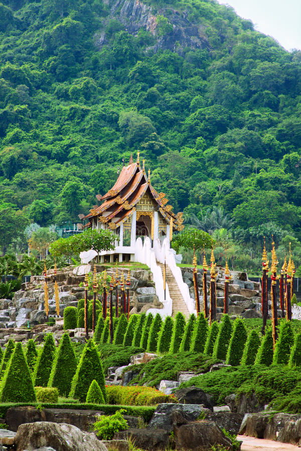 Tropical Park Nong Nooch Royalty Free Stock Photography