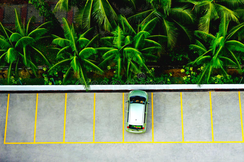 Tropical Parking stock photo