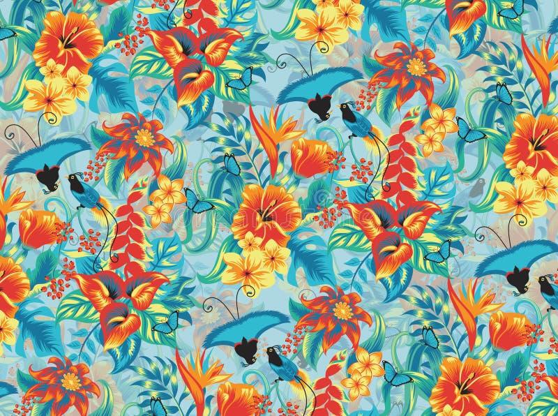 Tropical pattern stock illustration