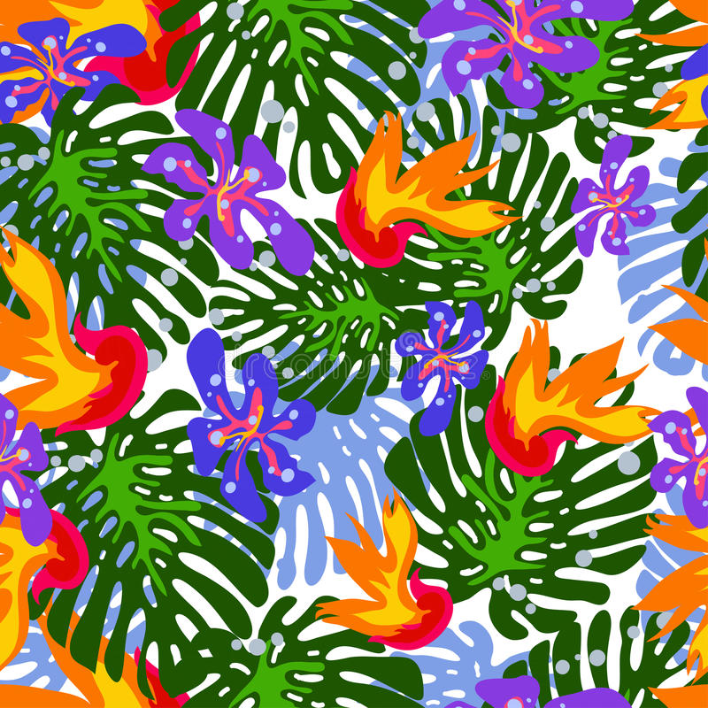 Tropical pattern royalty free illustration