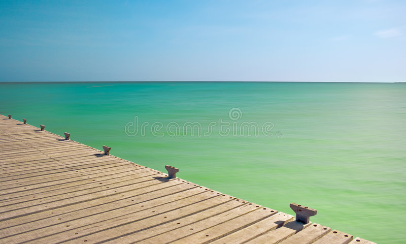 Tropical Pier stock photography