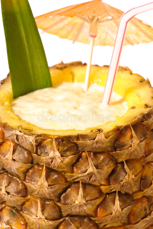 Tropical Pineapple Drink royalty free stock photos