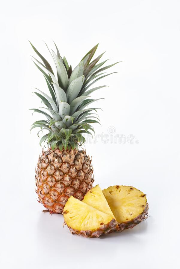 Tropical pineapple fruit royalty free stock photo