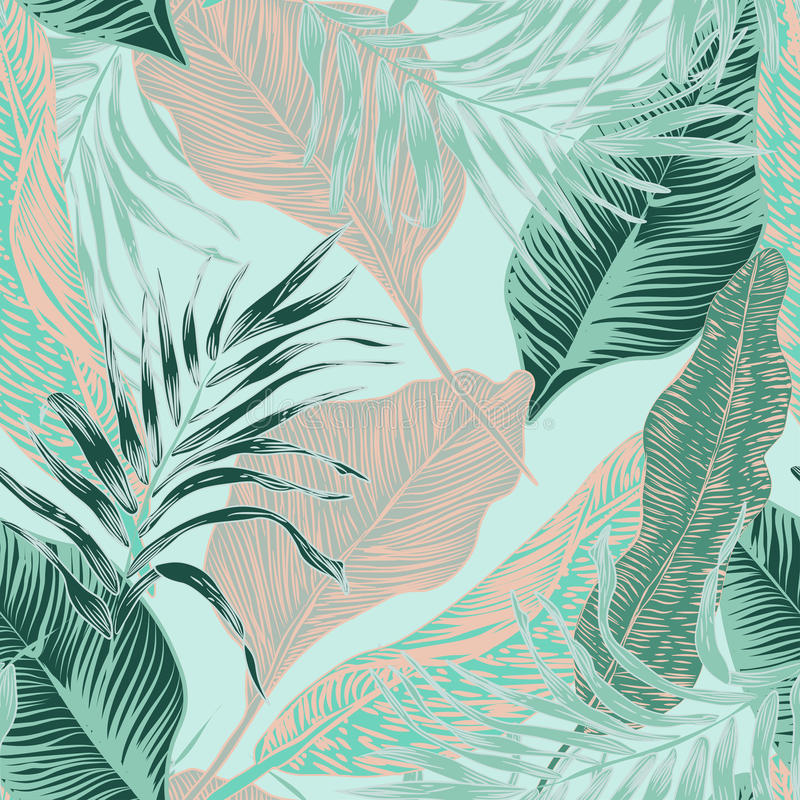 Tropical plants royalty free illustration