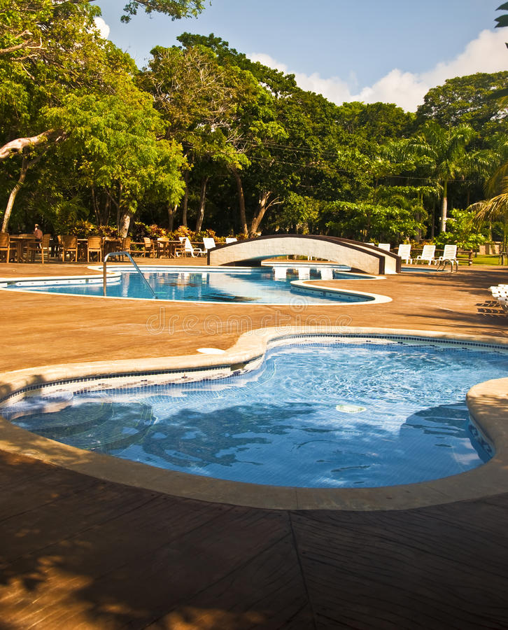 Tropical Pools royalty free stock photography