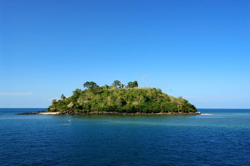 Tropical pristine island stock image