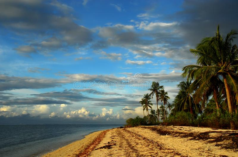 Tropical pristine island royalty free stock photo