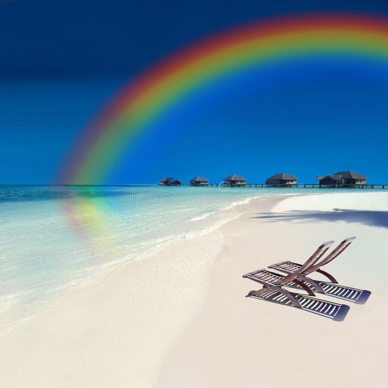 Tropical Rainbow Island royalty free stock photos