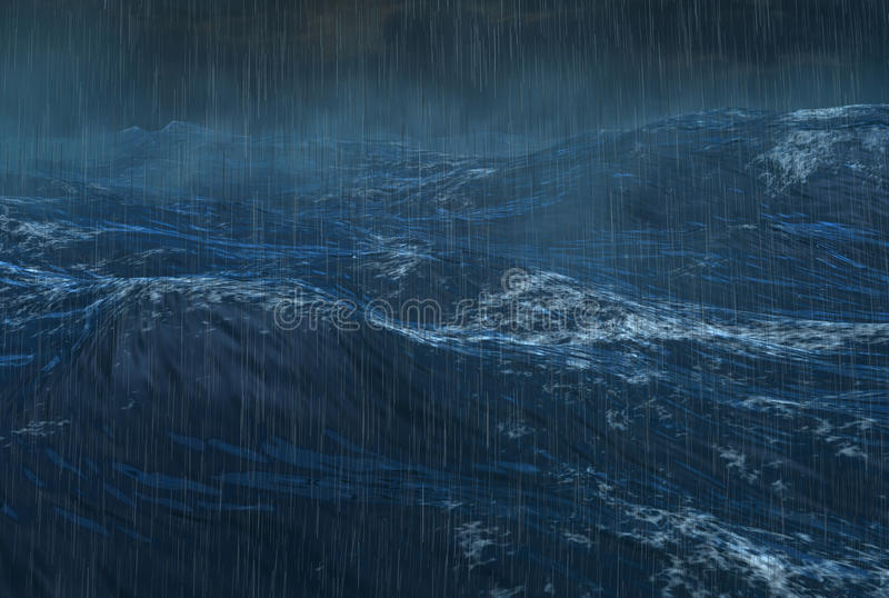 Tropical Rainy Cyclone on the Ocean royalty free stock photos