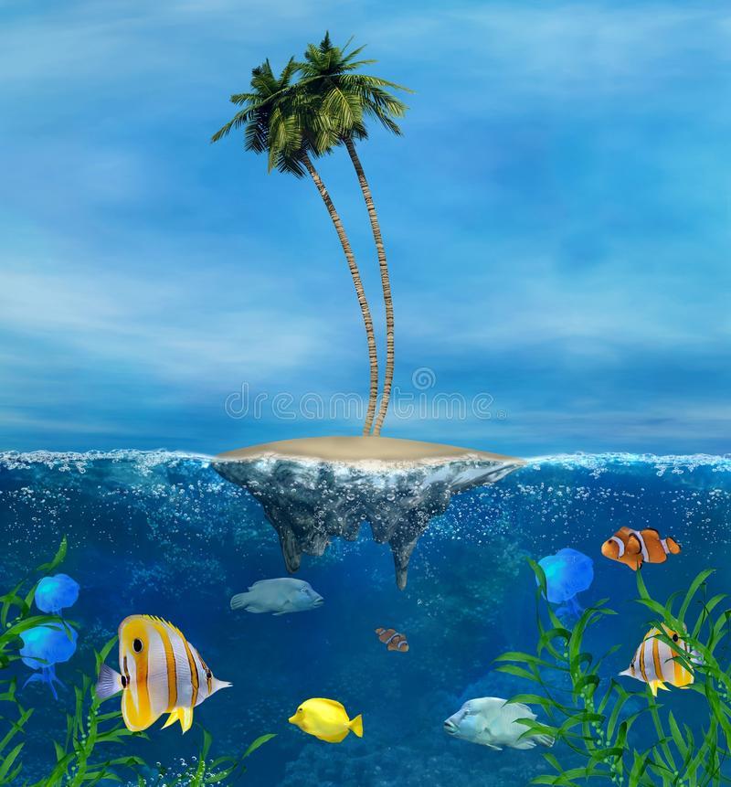Download Tropical Reef stock illustration. Image of coast, fish - 28636042
