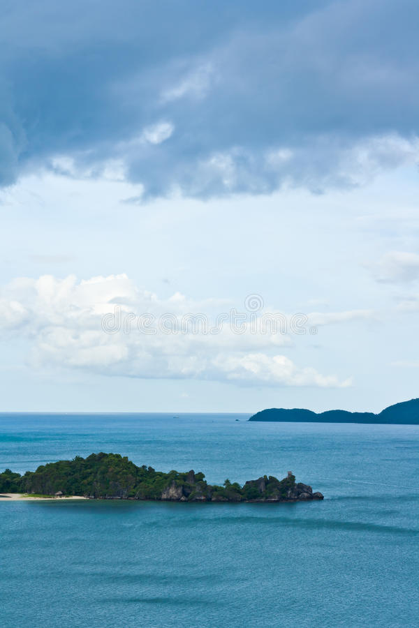 Tropical remote island in the ocean. Thailand stock photos