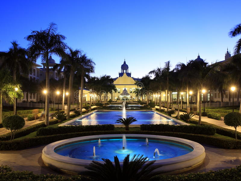 Download Tropical Resort With Fountain Stock Photo - Image: 12610086