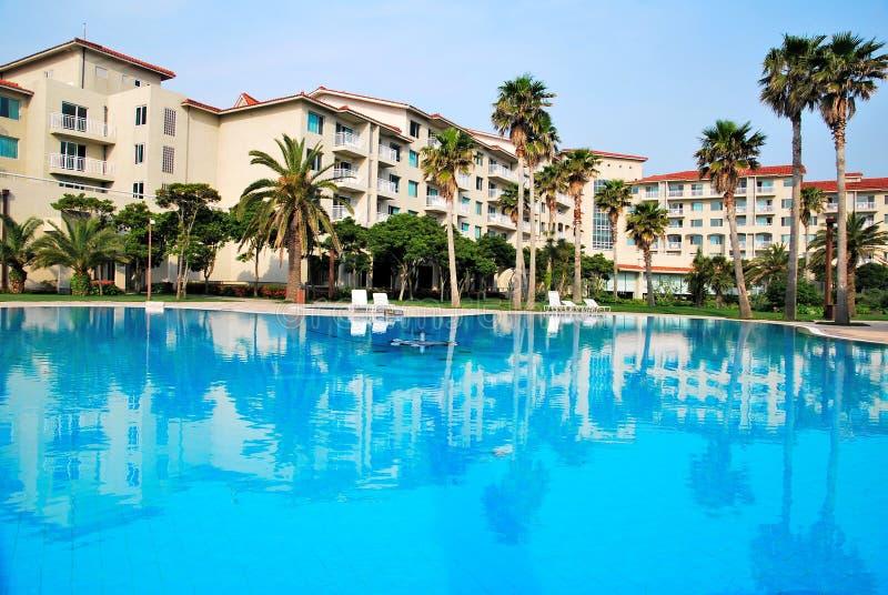 Tropical resort hotel royalty free stock photos