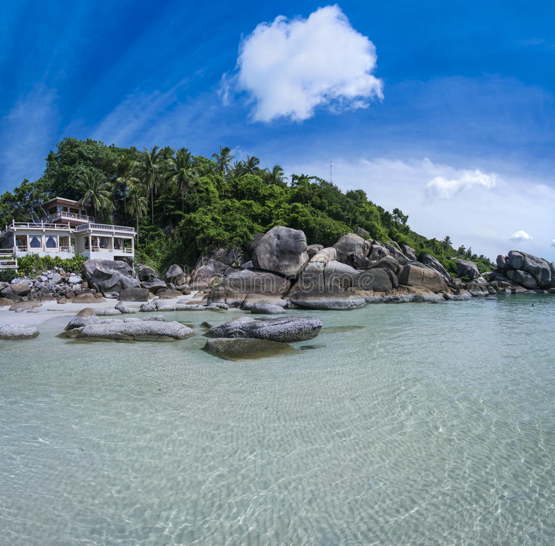 Tropical resort ko samui beach thailand royalty free stock photos