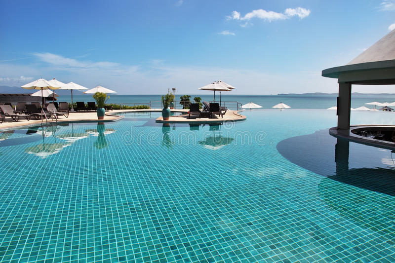 Download Tropical Resort. Poolside And Sea View Stock Image - Image: 17372395