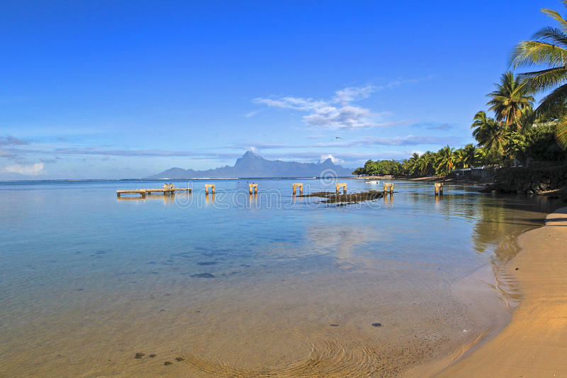 Tropical resort Tahiti stock photography