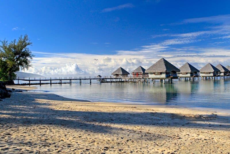 Tropical resort Tahiti stock photos