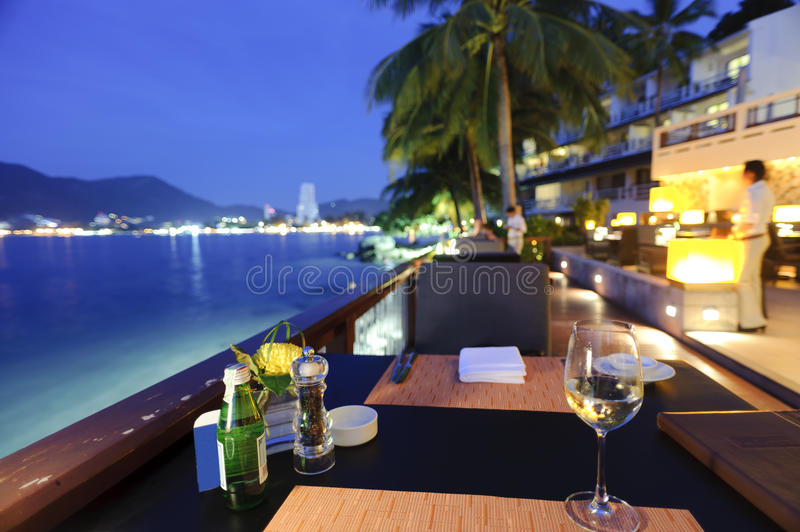 Tropical restaurant stock photo