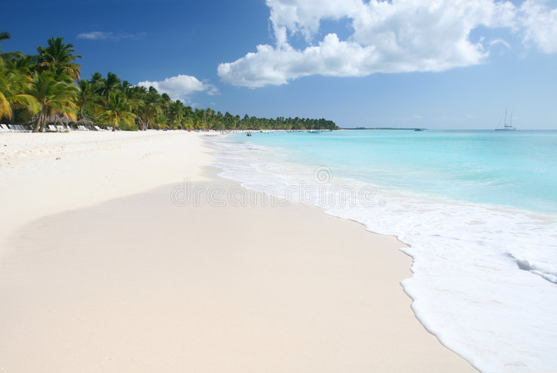 Tropical Sand Beach, Ocean royalty free stock image