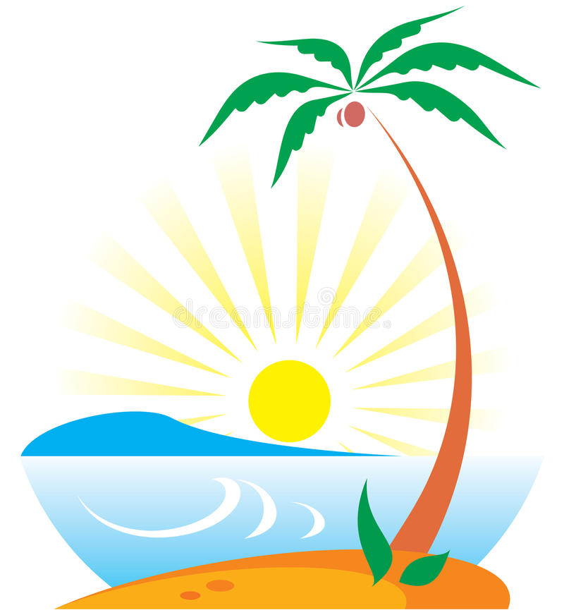 Download Tropical Scene stock vector. Image of landscape, south - 10385484