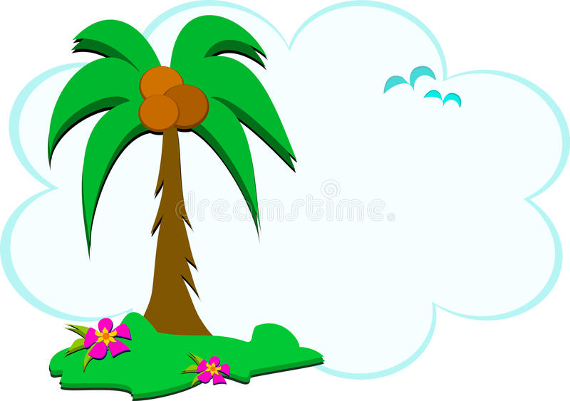 Download Tropical Scene of Nature stock vector. Image of coconuts - 25494349