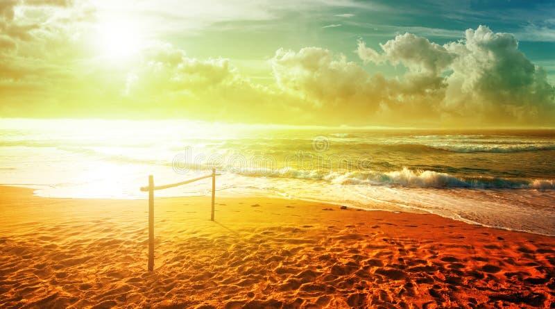 Download Tropical scene stock photo. Image of beach, scenic, storm - 34245834
