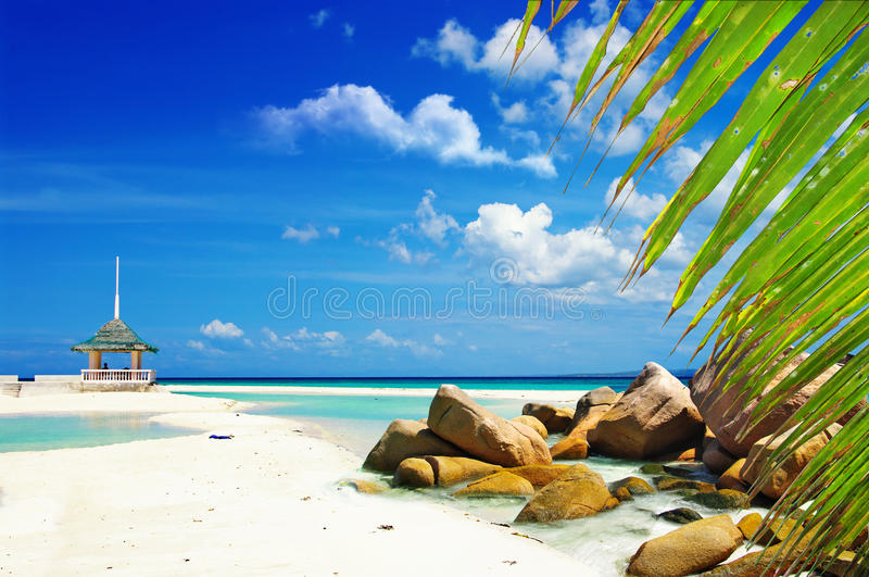 Download Tropical scenery stock photo. Image of chair, asia, background - 26148460