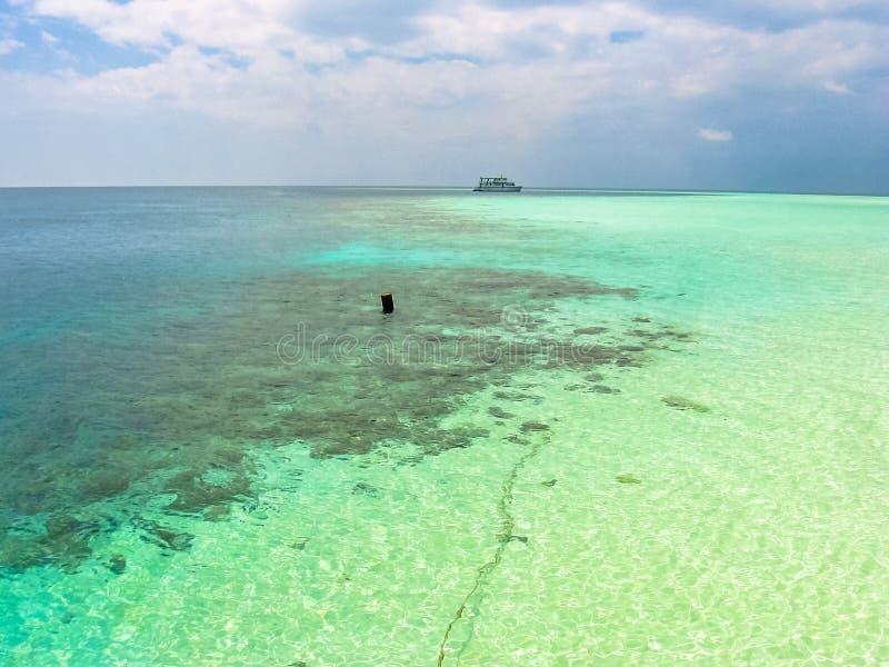 Tropical sea background stock photo