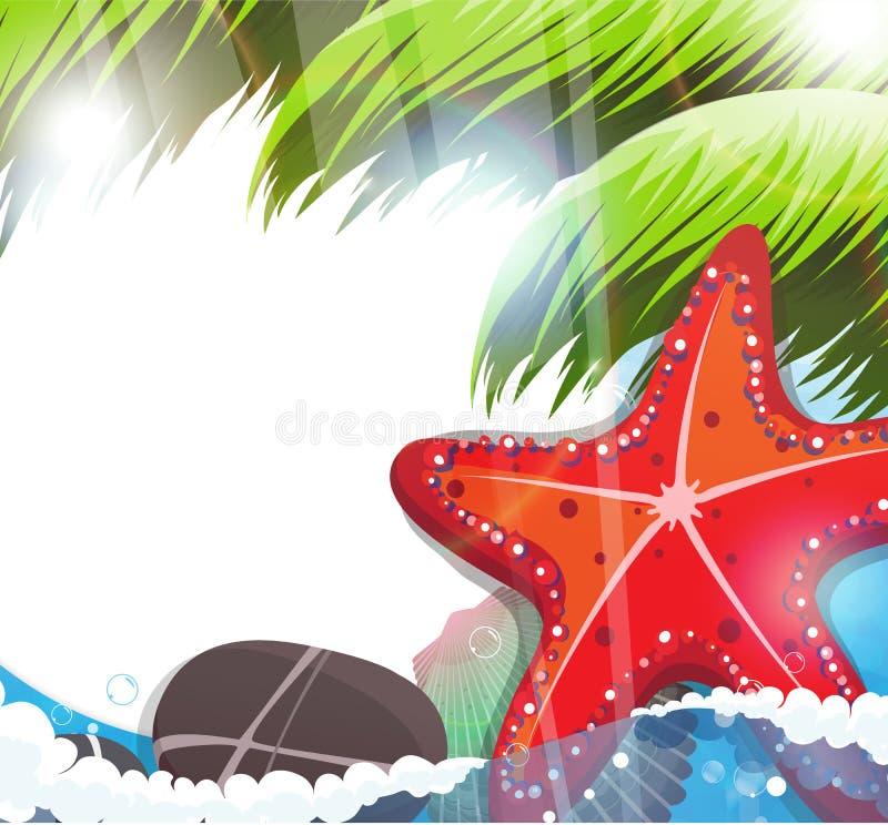 Tropical Sea Life. stock illustration