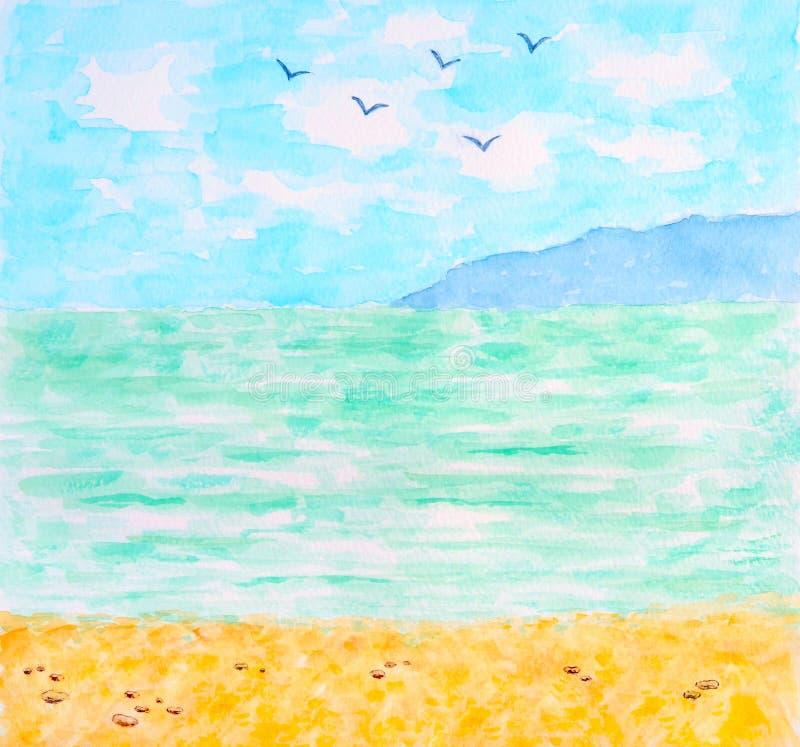 Download Tropical Sea Or Ocean Summer Landscape Stock Illustration - Illustration of nobody, beautiful: 25450490