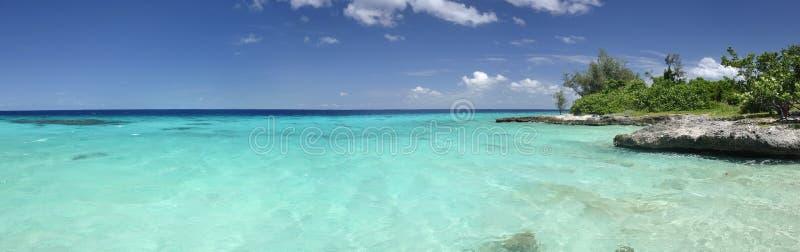 Tropical sea panorama stock images