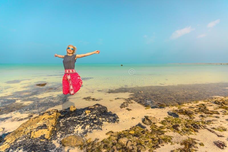 Tropical sea in Persian Gulf stock photo