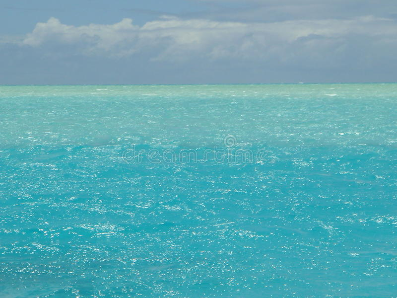 Tropical sea. Variation of the colours of the ocean as the depth varies stock photos